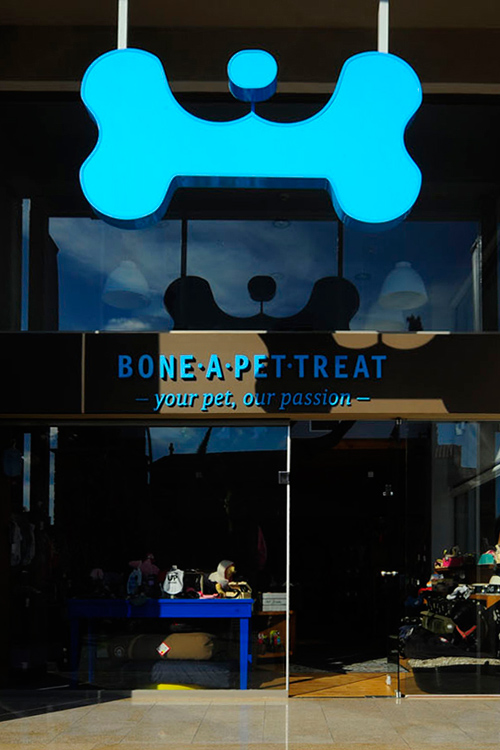 Corporate design bone a pet treat pet shop