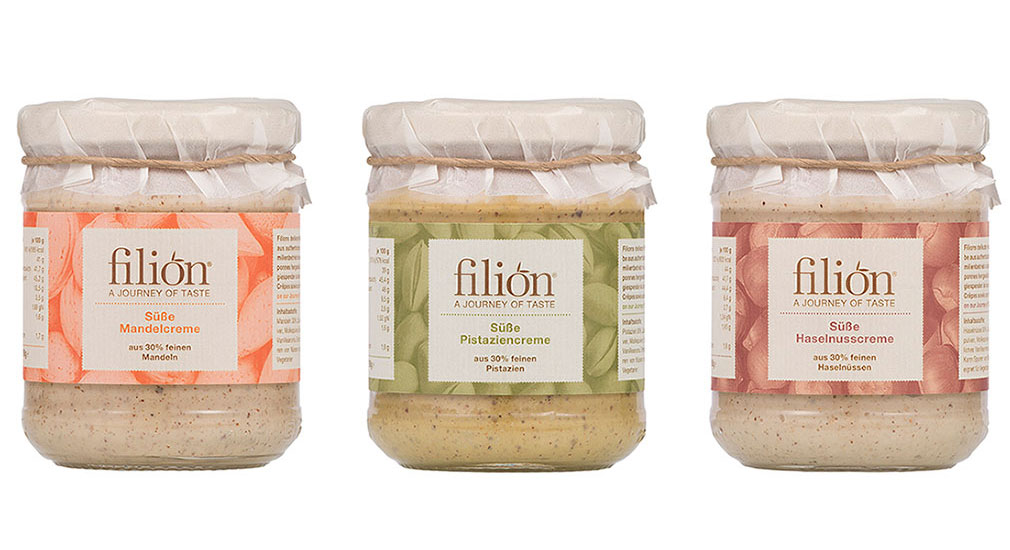 Filion packaging sweet creams