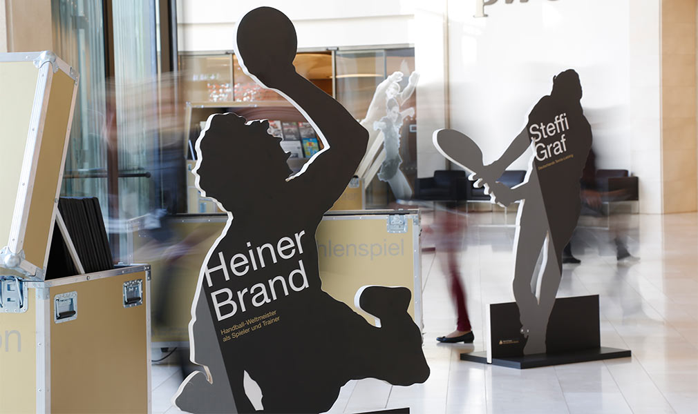 exhibition design hall of fame of german sports deutsche sporthilfe